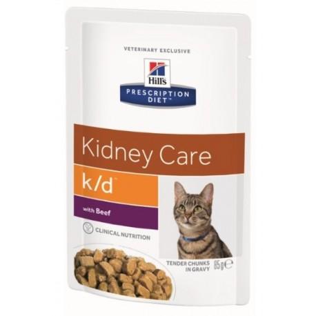 Пресервы Hill's PD Feline k/d Beef - для кошек для лечения почечной недостаточности с говядиной, 85 г (упаковка 12 штук)