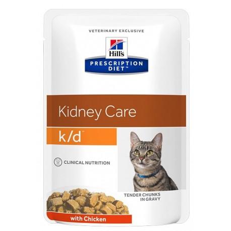 Пресервы Hill's PD Feline k/d Chicken - для кошек для лечения почечной недостаточности с курицей, 85 г (упаковка 12 штук)