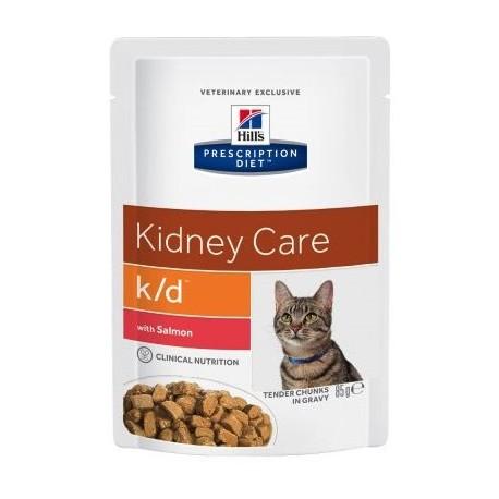 Пресервы Hill's PD Feline k/d Salmon - для кошек для лечения почечной недостаточности с лососем, 85 г (упаковка 12 штук)