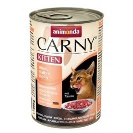 Carny Kitten - с телятиной и курицей, 400г
