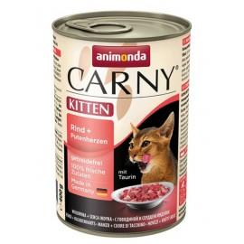Carny Kitten - с говядиной и сердцем индейки (упаковка 12 шт)