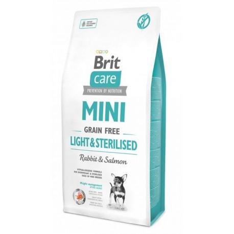 Brit Care Mini Light & Sterilised - беззерновой корм для собак миниатюрных пород с избыточным весом или стерилизованных собак