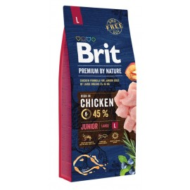 Brit Premium by Nature Junior L - сухой корм для щенков крупных пород (25–45 кг)