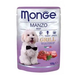 Monge Grill Pouch Manzo (Beef) - влажный корм для собак с кусочками говядины, 100г