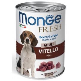 Monge Fresh Adult Veal - консервированный корм для взрослых собак с говядиной, 400г