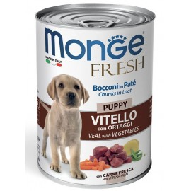 Monge Fresh Puppy Veal with Vegetables - консервированный корм для щенков с телятиной и овощами, 400г