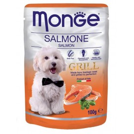 Monge Grill Pouch Salmone (Salmon) - влажный корм для собак с лососем, 100г