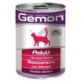 Gemon Cat Adult - консервы для кошек с кусочками говядины, 415г