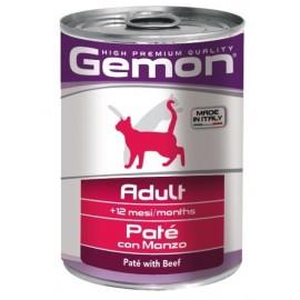 Gemon Cat Adult Pate Beef- консервы для кошек паштет с говядиной, 415г