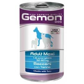 Gemon Dog Maxi Adult Tuna - консервы для собак крупных пород с кусочками лосося, 1250г