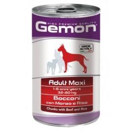 Gemon Dog Maxi Adult Beef and Rice - консервы для собак крупных пород с кусочками говядины и рисом, 1250г