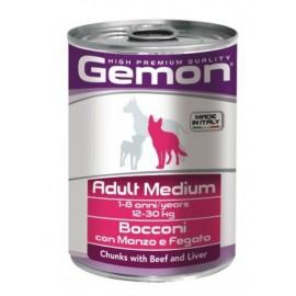 Gemon Dog Medium Adult Beef & Liver - консервы для собак средних пород кусочки говядины и печени, 415г