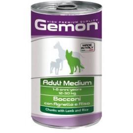 Gemon Dog Medium Adult Lamb and Rice - консервы для собак средних пород с кусочками ягненка и рисом, 1250г