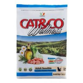 Cat&Co Adult Sensible Fish and Rice - корм для кошек с чувствительным пищеварением с рыбой и рисом