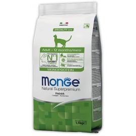Monge Natural Superpremium Monoprotein Rabbit - сухой монобелковый корм для взрослых кошек с кроликом