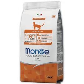 Monge Natural Superpremium Monoprotein Duck Sterilised - сухой монобелковый корм для стерилизованных кошек с уткой