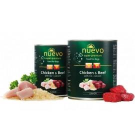 NUEVO консервы для щенков с курицей, говядиной, рисом и кальцием (упаковка 6 штук по 400г)