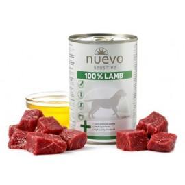 NUEVO SENSITIVE консервы для взрослых собак с чувствительным пищеварением со 100% ягненком (упаковка 6 штук по 400г)