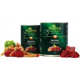 NUEVO консервы для взрослых собак с олениной, лапшой, брусникой и сафлоровым маслом (упаковка 6 штук по 400 г)