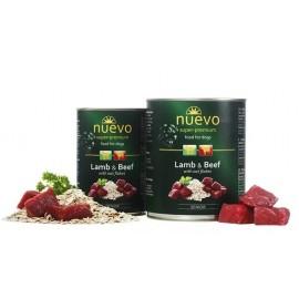 NUEVO консервы для пожилых собак с ягненком, говядиной и овсяными хлопьями (упаковка 6 штук по 400г)