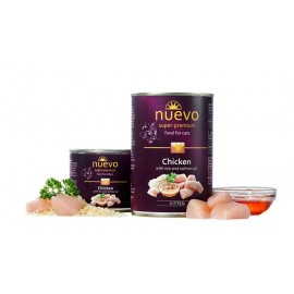 NUEVO консервы для котят с курицей, рисом и лососевым жиром (упаковка 6 штук по 200г)