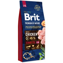 Brit Premium by Nature Senior L+XL - корм для пожилых собак крупных пород