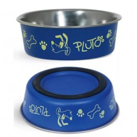 Миска Triol Disney металлическая на резинке Pluto, 0,75л